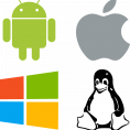 logos windows linux android mac